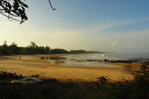 early morning at Mitbhav beach