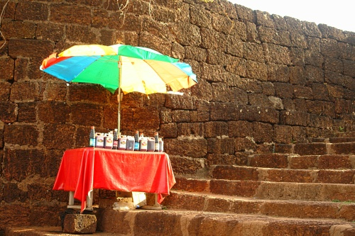 Outside Vijaydurg fort