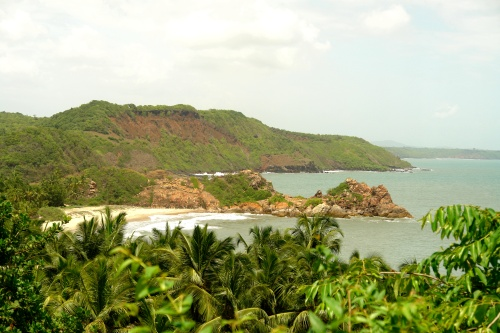 Nivati beach from the fort