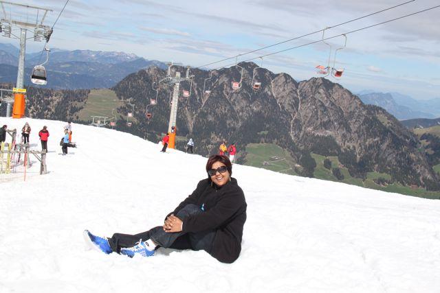 The non skiers go to a ski village