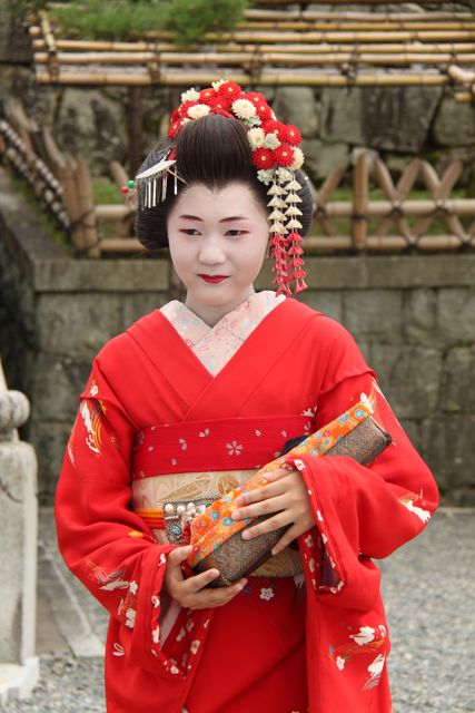A maiko in the making
