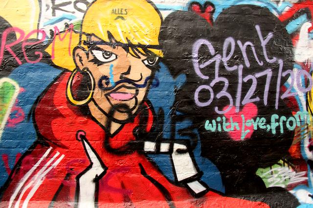 Graffiti art in Ghent