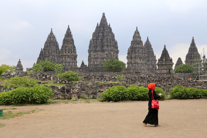 A forest of temples at Prambanan