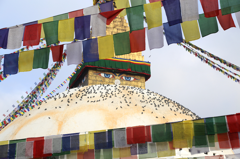 A morning at Boudhanath